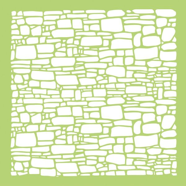 "Old Mac Cobblestone - Template 12""X12"""