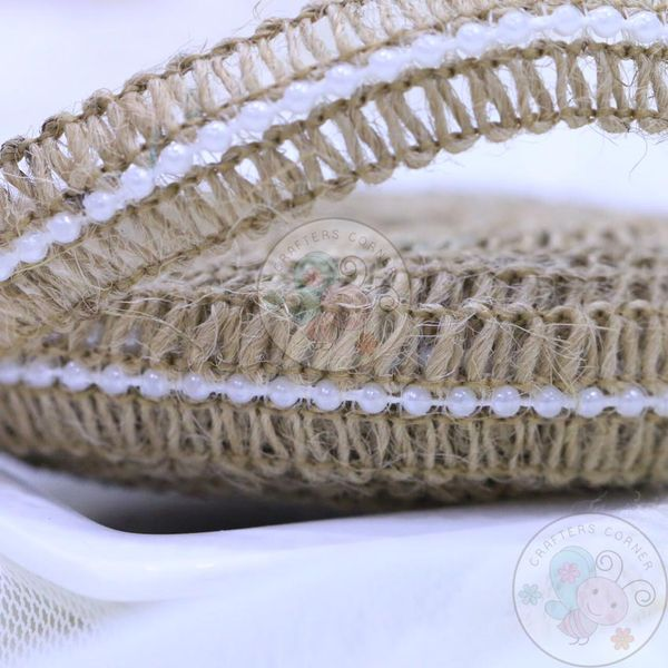 Jute Lace with Pearls