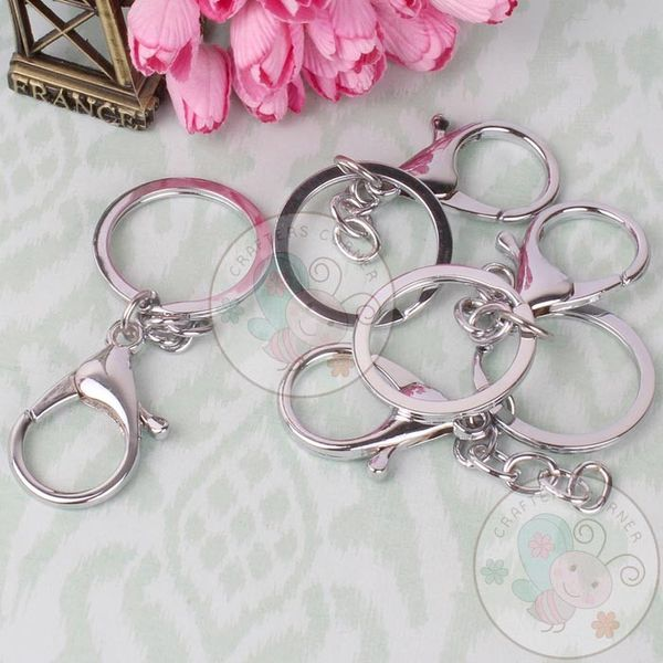 Key Ring with Clasp - Silver