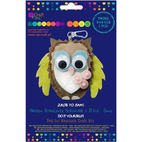 FELT OWL KEYCHAIN CRAFT KIT