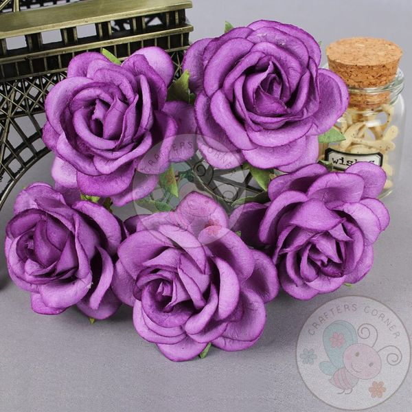 Purple - Mulberry Curved Roses