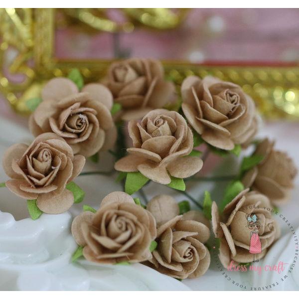 Micro Roses - Dull Brown