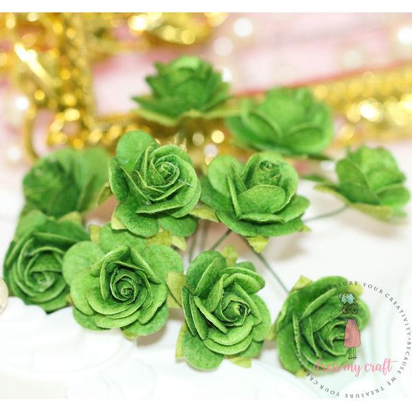 Micro Roses - Bright Green