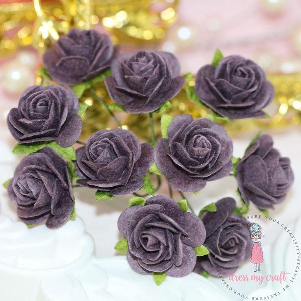 Micro Roses - Dark Mauve