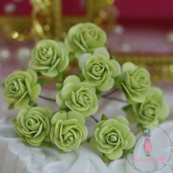 Micro Roses  - Lime Green