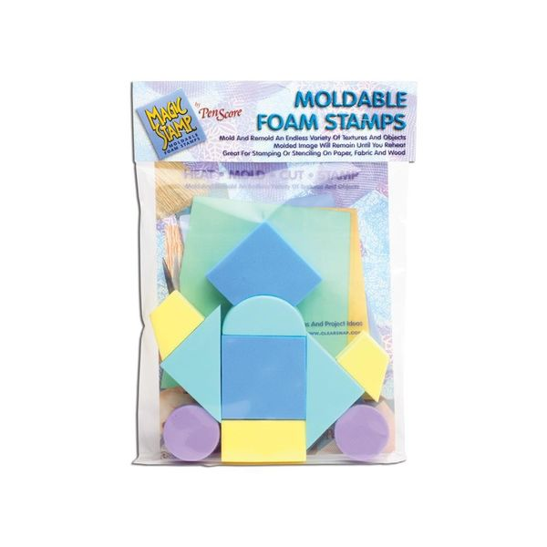 Moldable Foam Stamps - Blue Color