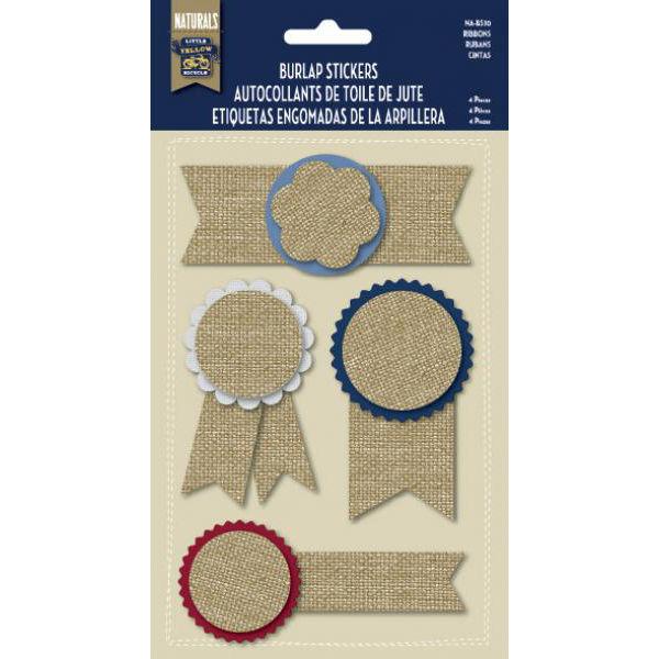 Burlap Stickers - Ribbons