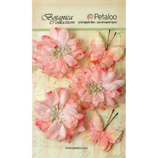 """Soft Pink - Botanica Mums & Butterflies 2"""" - 2.5"""" 5/Pkg"""