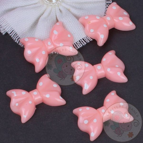 Polka Dot Bow - Light Pink