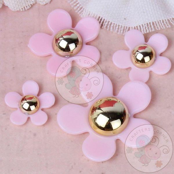 5 Petal Flower Set - Pink