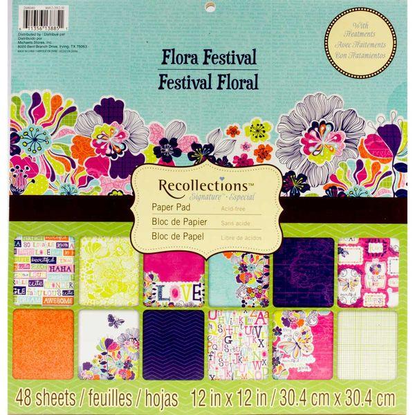 """Flora Festival Paper 12""""x 12"""""""