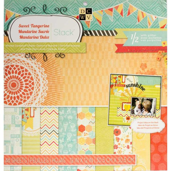 "Sweet Tangerine Paper 12""X12"""