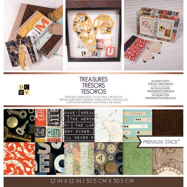 "Treasures - 12"" X 12"" Paper Pad"
