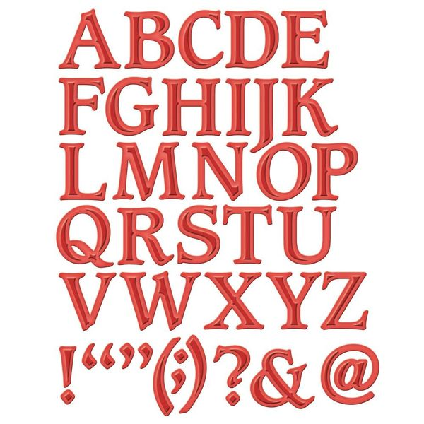 Font One - Uppercase - Die