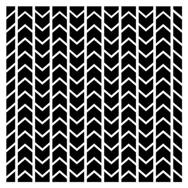 Stencil Chevron Pattern