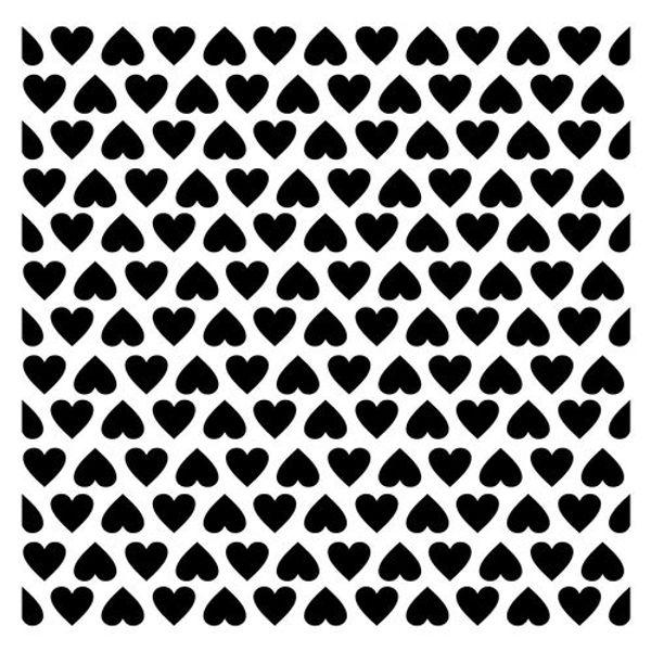 Stencil Hearts Pattern