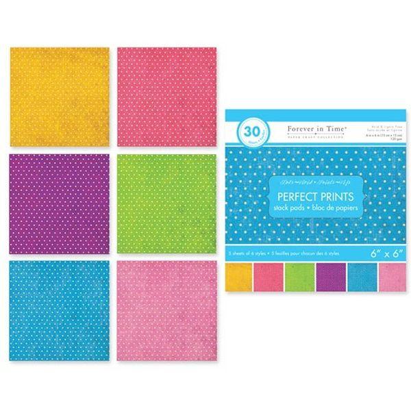 "Dots- Vivid - Perfect Prints Stacks 6""x6"""