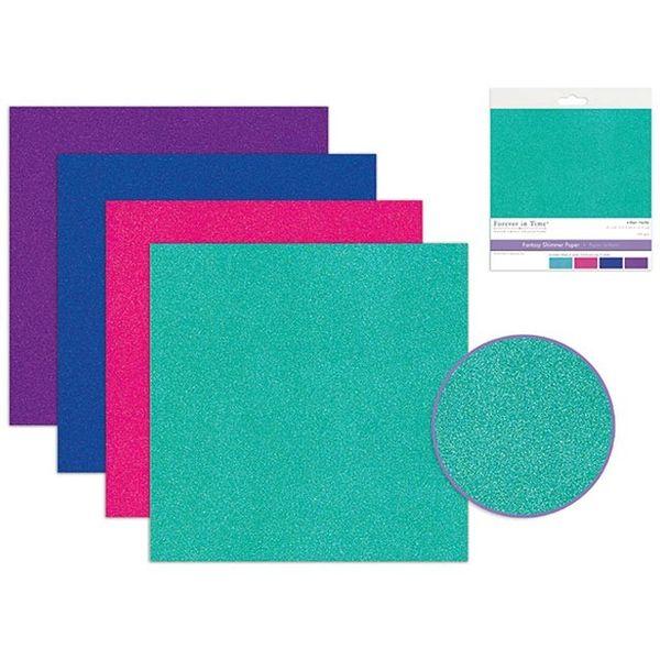 Fantasy Shimmer Paper - Neon Medley