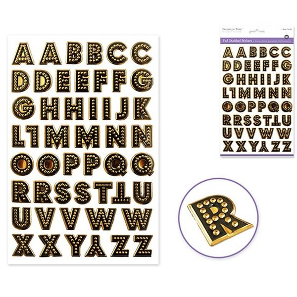 Caps Font Gold Sticker