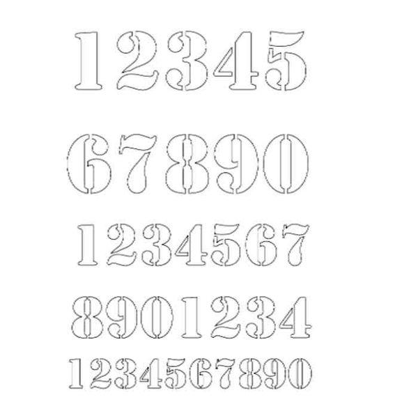 "Got Your Number - Stencil 6"" X 9"""