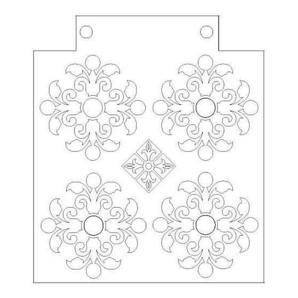 "Rosette - Stencil 6"" X 9"""