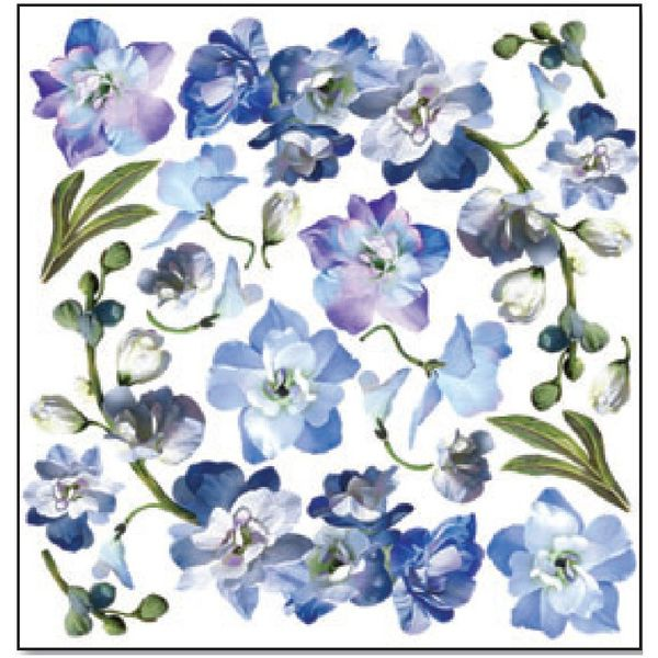 Blue Flower - Printed Plastic sheet