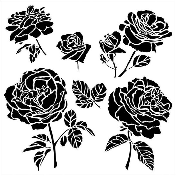Cabbage Roses - Stencils