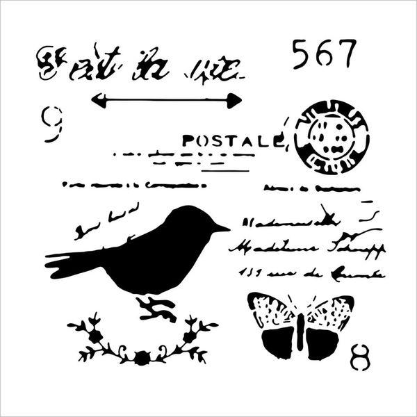 Chickadee Post - Stencils