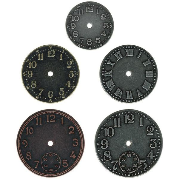 "Idea-Ology Timepieces Clock Faces 1.25"" To 1.75"" 5/Pkg"