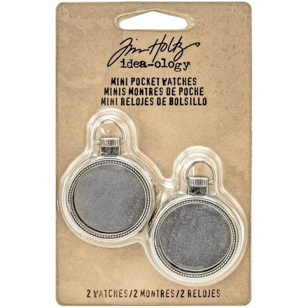 Mini Pocket Watch Frames - Antique Nickel