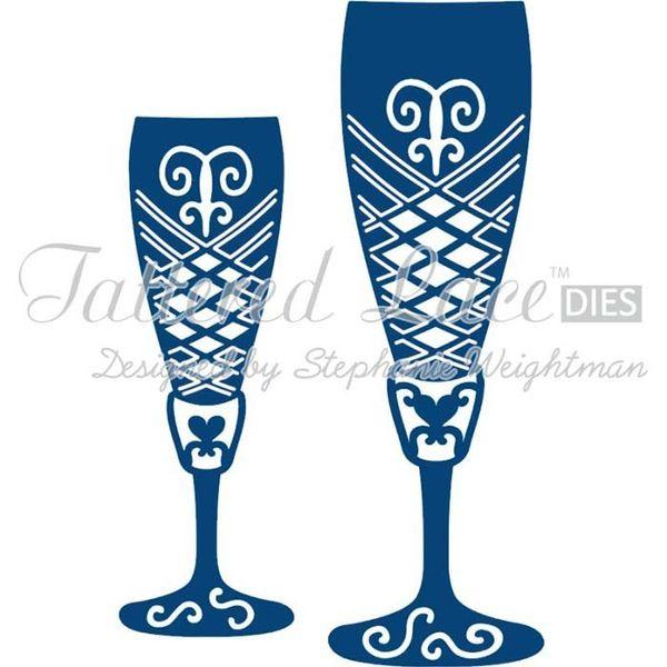 Champagne Glasses - Die