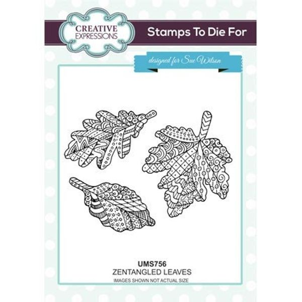 Zentangled Leaves Stamp