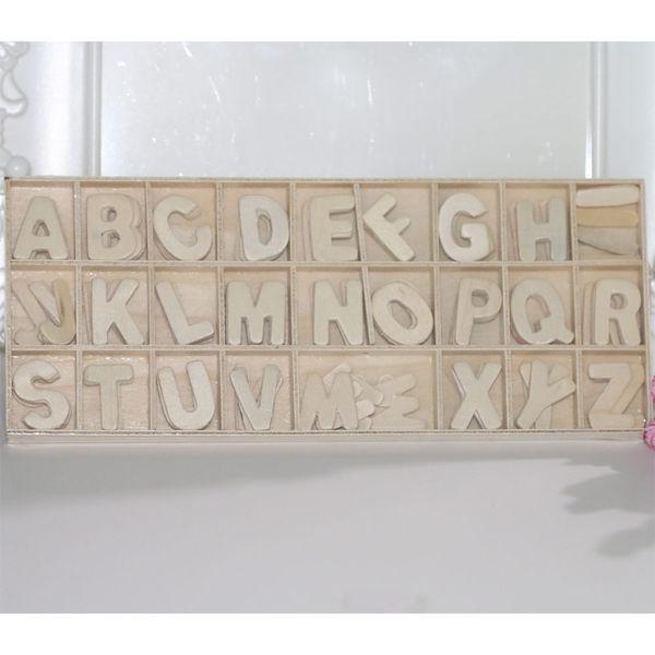Wooden Alphabets #1 - 130 Pcs/Pack