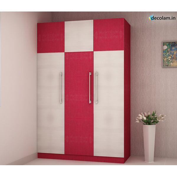 3 Door Wardrobe In Shine Line S Finish By Croma