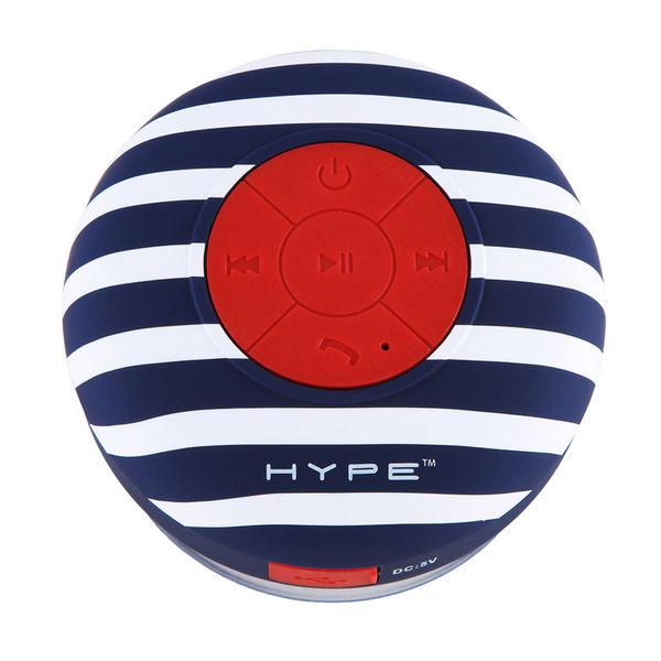 Hype Aqua Sound Bluetooth Wireless Speaker Bluewhite Red 6