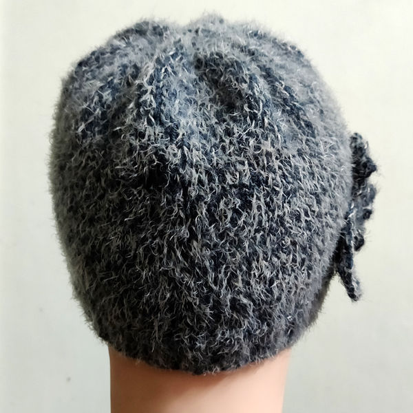 c8ea5ba8633 Leme Unisex Hand-Knitted White Scottish Woolen Cap (Mouse Grey