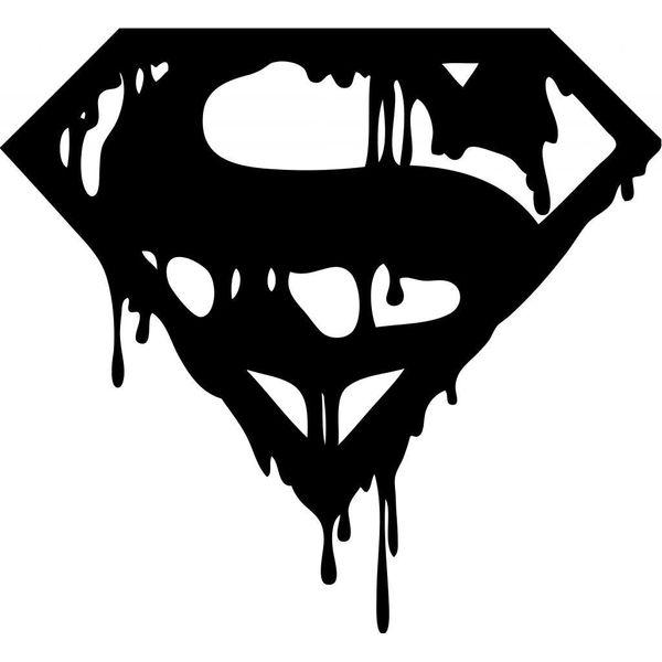 Cvanu Bloody Black Dark Superman Symbol Windows Sides Hood