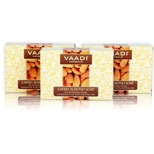 Lavish Almond Soaps (75gm x 3)