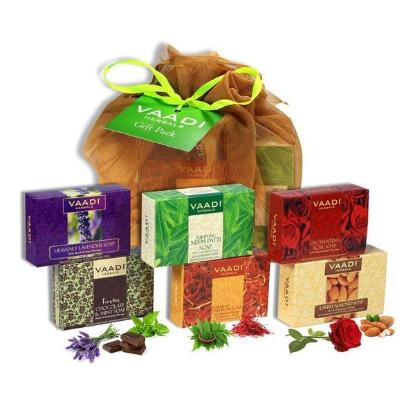 Vaadi Herbals Assorted Soaps Gift Pack (Set of 6)
