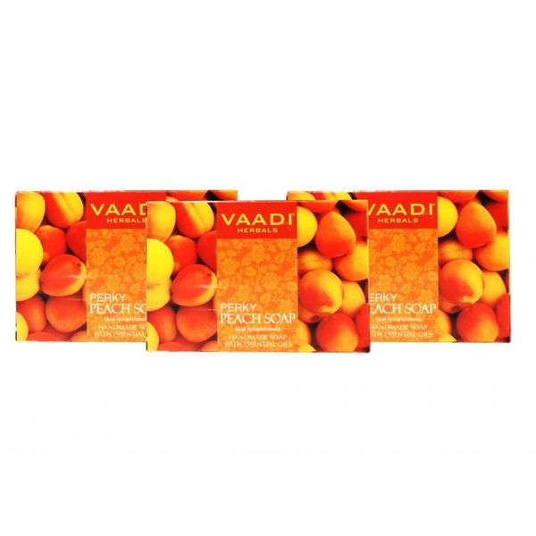 PERKY PEACH SOAP with Almond oil (3 X 75 gms)