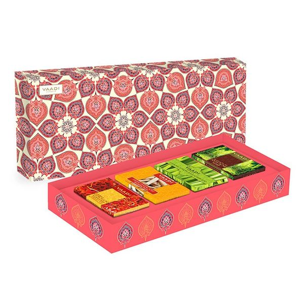 Royal Indian Herb Collection - 4 Premium Herbal Handmade Soap Gift Box (75 gms x 4)