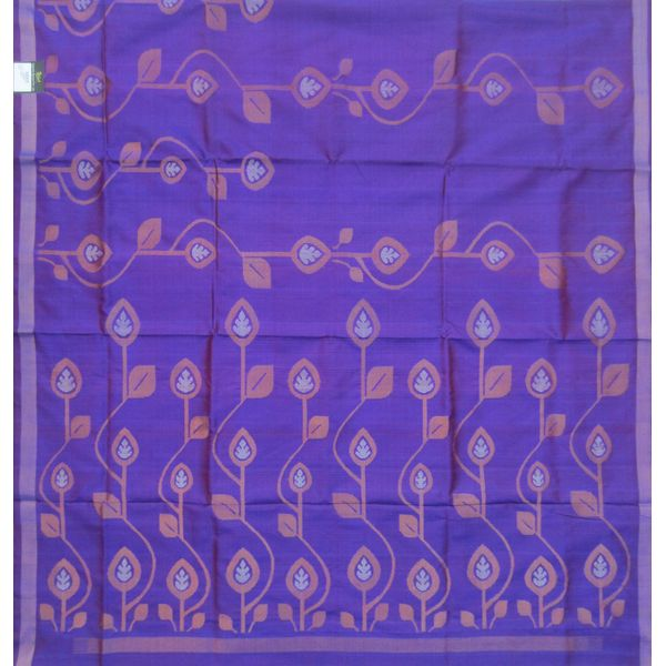 Blue Uppada Pure Silk Saree all over leaf design