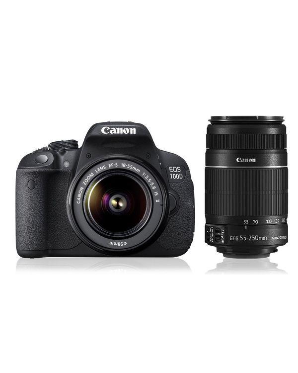 Canon EOS 700D Double Zoom Kit (EF S18-55 IS II & EF S55-250 IS II)
