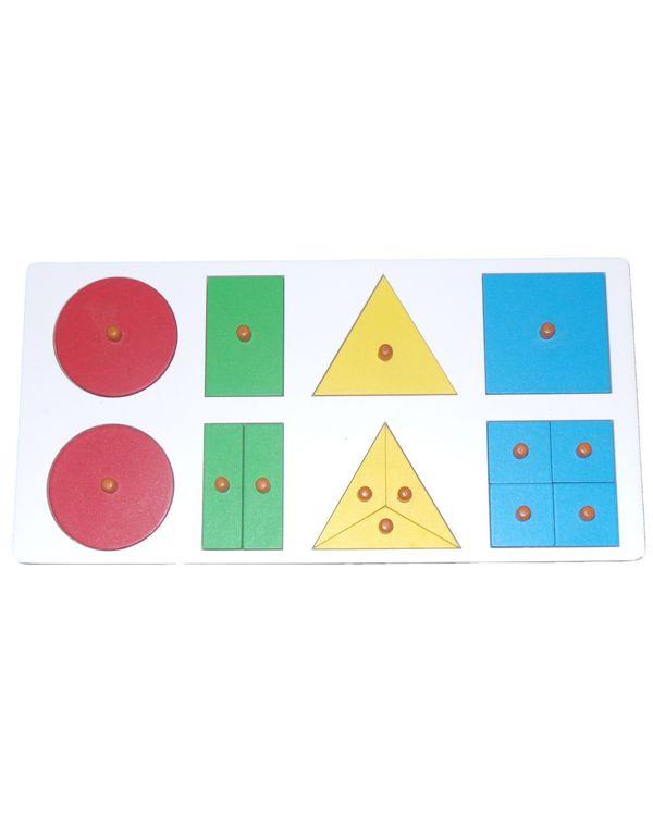 Geometric Fraction Board 1 to