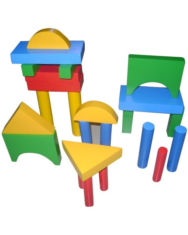 Building Blocks Large Set of 24 with tray