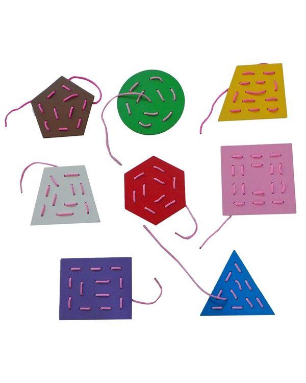 Threading Boards Geometric Shapes: Set of 8