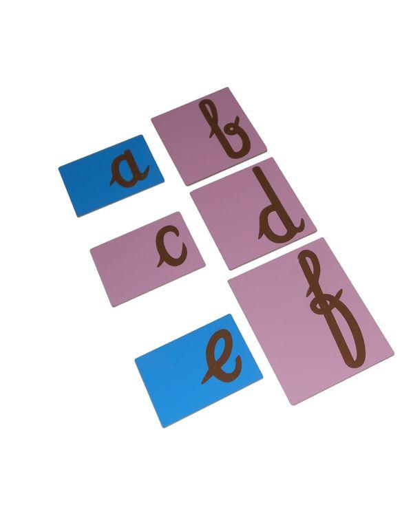 Sandpaper Tracing: English Cursive letters