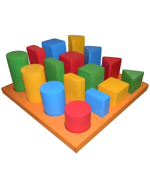 Tray with 3D Geo Shapes: 16 shapes