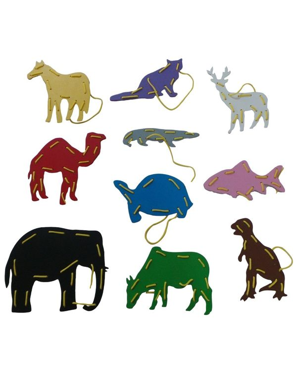 Threading Boards Animals: Set of 8