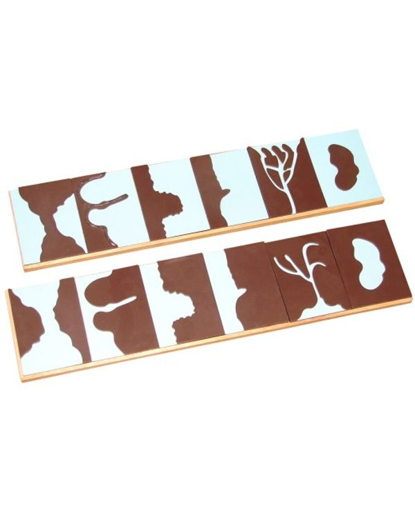 Geography Land form cards with stands: 6 pairs
